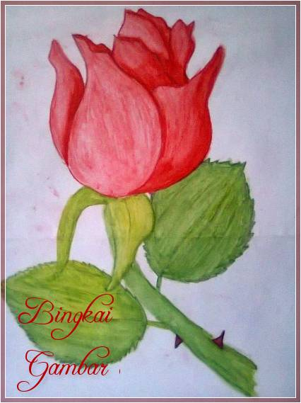 Gambar Bunga Lukisan Yang Simple