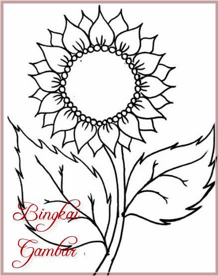 Gambar Bunga Matahari Sederhana
