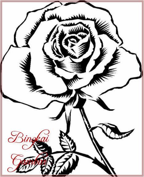 Gambar Bunga Mawar Sederhana
