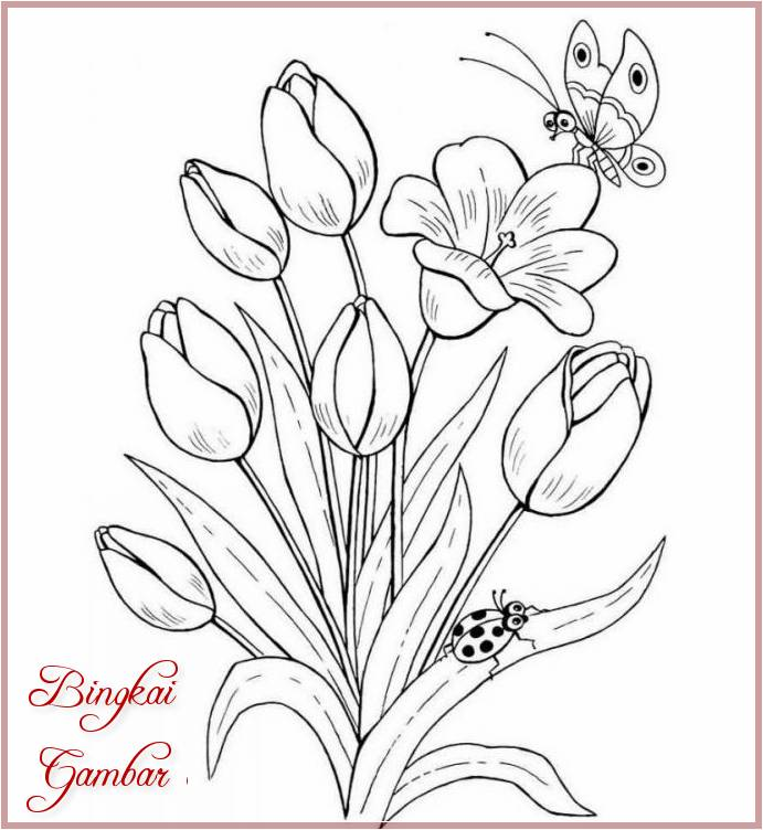 Gambar Bunga Sederhana Dan Mudah