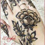 Gambar Henna Bunga Mawar Simple