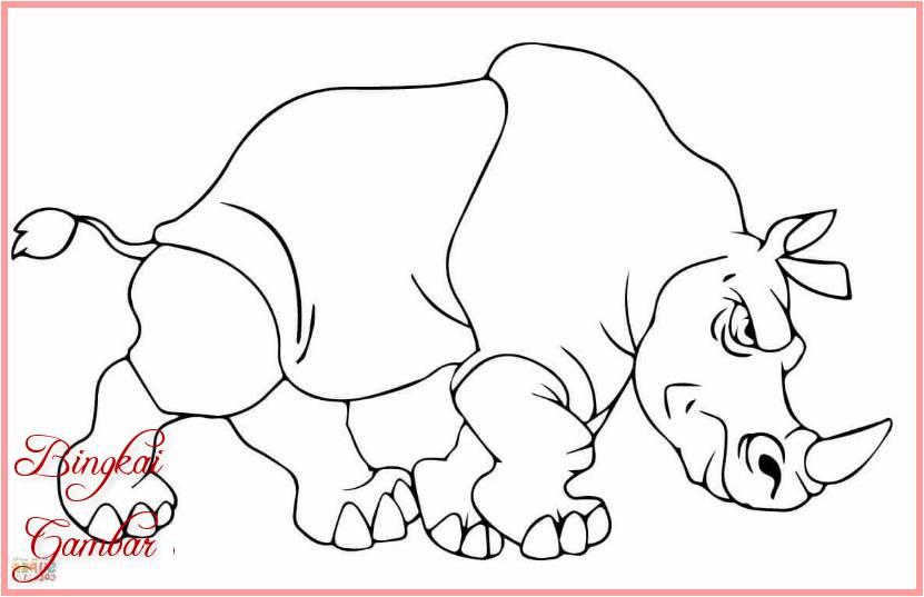 Gambar Kartun Hewan Badak