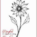 Gambar Sketsa Lukisan Bunga Simple