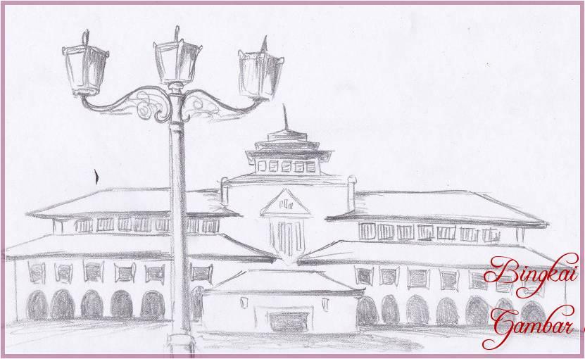Gambar Sketsa Rumah Dari Pensil