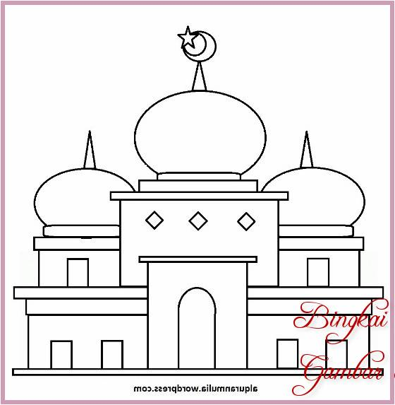 Gambar Sketsa Rumah Ibadah