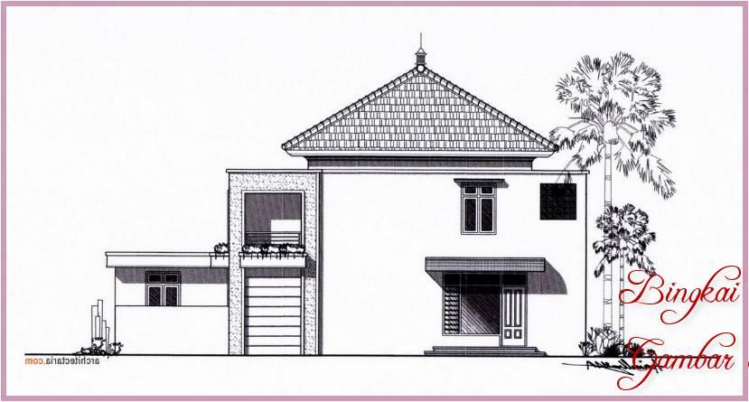 Gambar Sketsa Rumah Indah