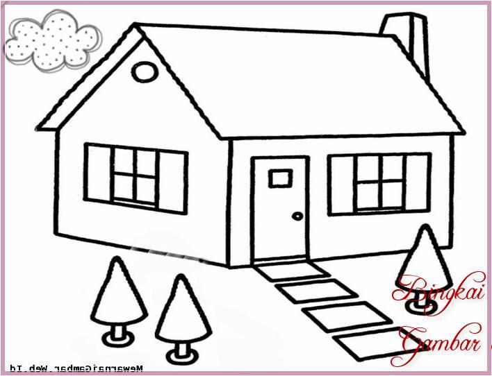 Gambar Sketsa Rumah Kecil