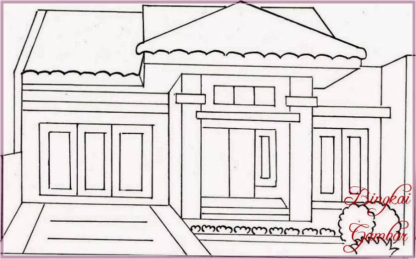 Gambar Sketsa Rumah Minimalis