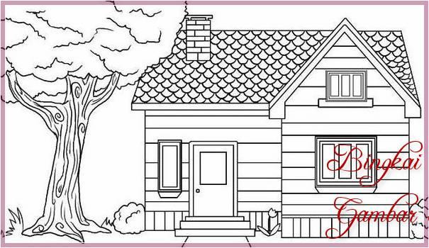 Gambar Sketsa Rumah Sederhana