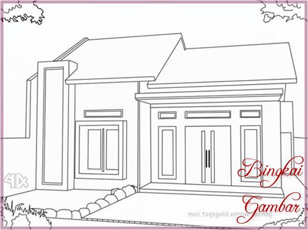 Gambar Sketsa Rumah Yang Cantik