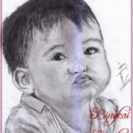 Gambar Sketsa Wajah Anak Kecil