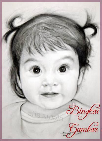 Gambar Sketsa Wajah Anak Perempuan