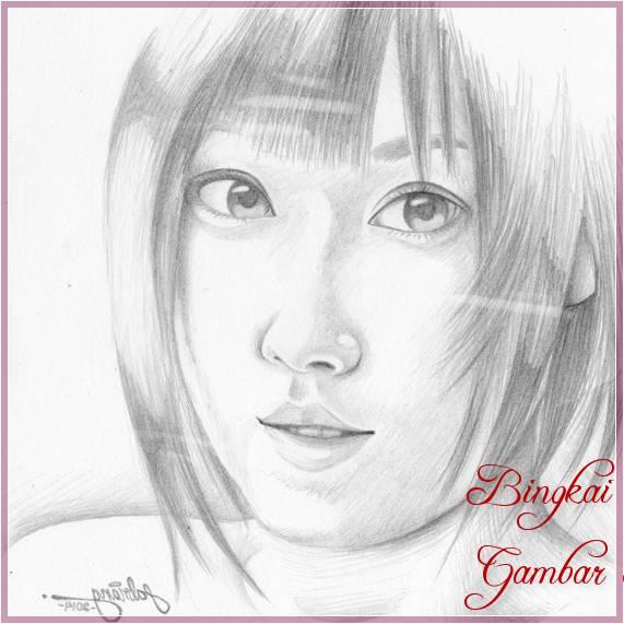 Gambar Sketsa Wajah Artis Korea