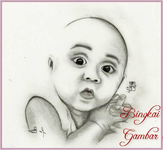 Gambar Sketsa Wajah Bayi