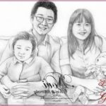 Gambar Sketsa Wajah Keluarga
