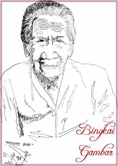 Gambar Sketsa Wajah Nenek