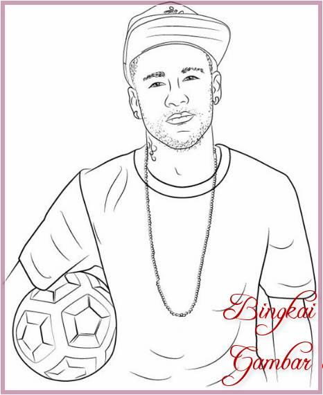 Gambar Sketsa Wajah Neymar