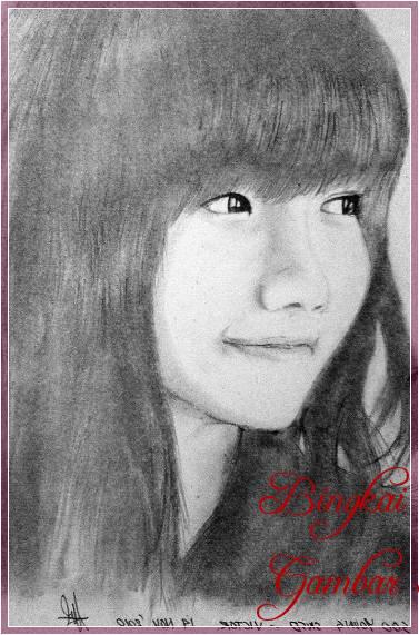 Gambar Sketsa Wajah Orang Korea