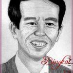 Gambar Sketsa Wajah Pak Jokowi