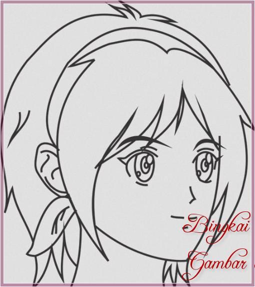 Gambar Sketsa Wajah Perempuan