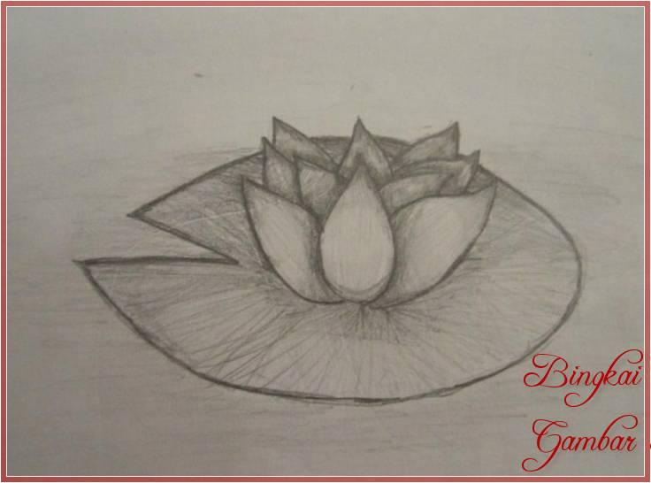Sketsa Bunga Teratai Hitam Putih Terbaik