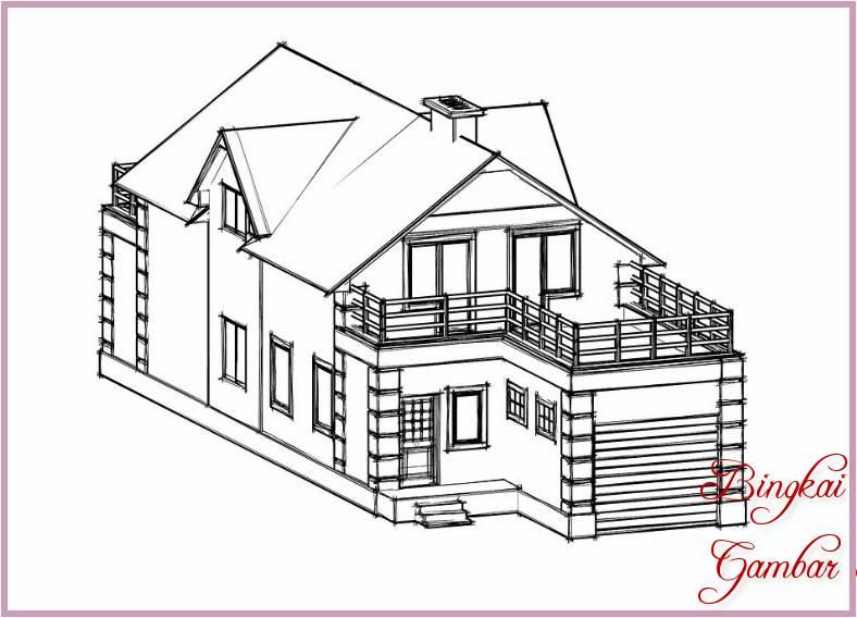 Sketsa Gambar Rumah House