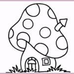 Sketsa Gambar Rumah Jamur