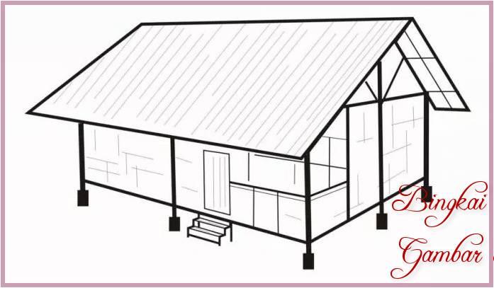 Sketsa Gambar Rumah Jawa Barat