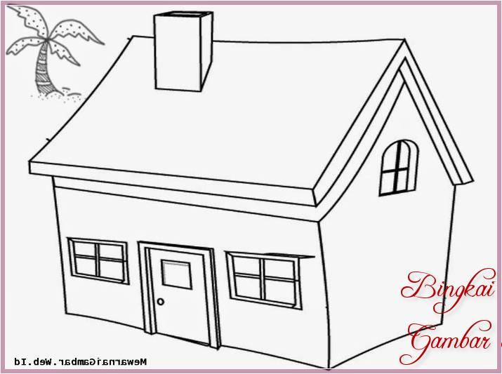 Sketsa Gambar Rumah Yang Gampang
