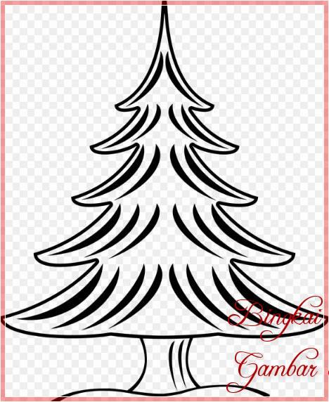 Contoh Sketsa Pohon Cemara