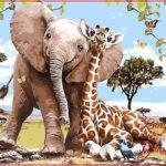 Gambar Jerapah Gajah
