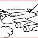 Pesawat Sketsa Pensil