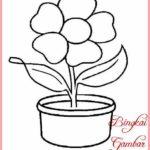 Sketsa Bunga Sederhana Dan Mudah Digambar