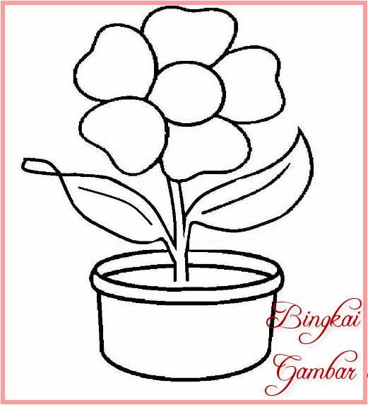 Sketsa Batik Motif Bunga Sederhana Tulisanviralinfo