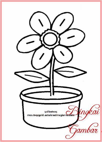Sketsa Bunga Sederhana Dan Mudah