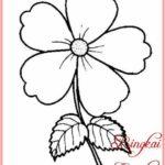 Sketsa Bunga Yang Sederhana