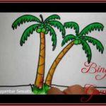 Sketsa Gambar Dan Warna Pohon Kelapa