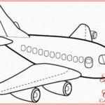 Sketsa Gambar Pesawat