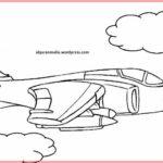 Sketsa Gambar Pesawat Jet