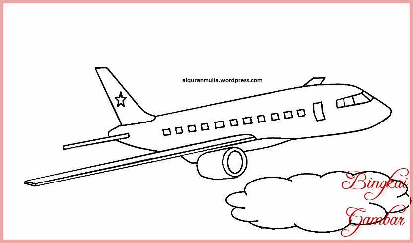 Sketsa Gambar Pesawat Sederhana