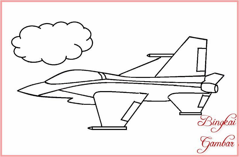 Sketsa Gambar Pesawat Tempur