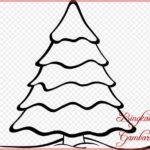 Sketsa Gambar Pohon Cemara Hitam Putih