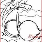 Sketsa Gambar Pohon Kelapa Dan Tunas Kelapa