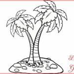 Sketsa Gambar Pohon Kelapa Lucu