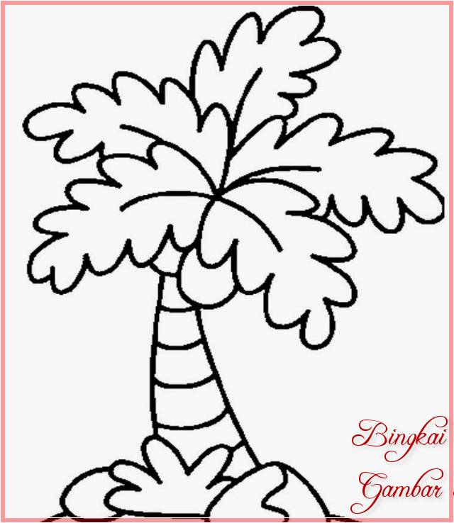 Sketsa Gambar Pohon Kelapa Mini