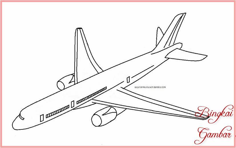 Sketsa Menggambar Pesawat