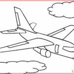 Sketsa Mewarnai Pesawat