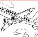 Sketsa Mewarnai Pesawat Terbang
