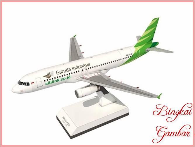 Sketsa Miniatur Pesawat Terbang