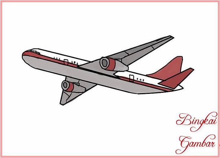 Sketsa Miniatur Pesawat